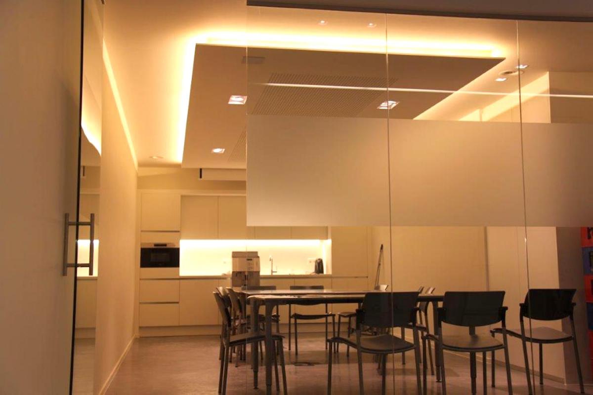 kantoor te lier elektriciteitswerken domotica verlichting